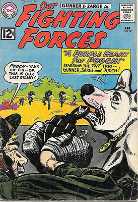 Our Fighting Forces Comic Book #67 Gunner and Sarge DC Comics 1962 VG/VERY GOOD+