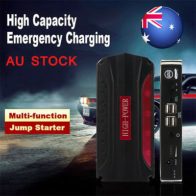 12V 68800mAh 4USB Portable Car Jump Starter Power Bank Rechargable Battery AU