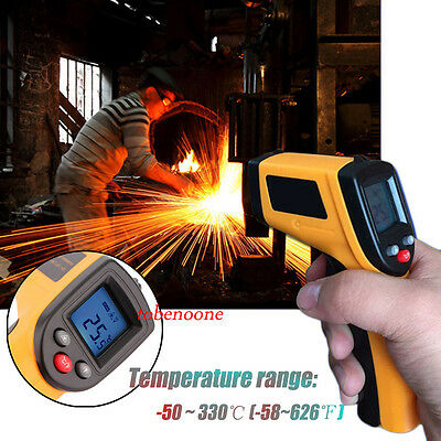 Temperature Gun Non-contact Infrared IR Laser Digital Thermometer TO