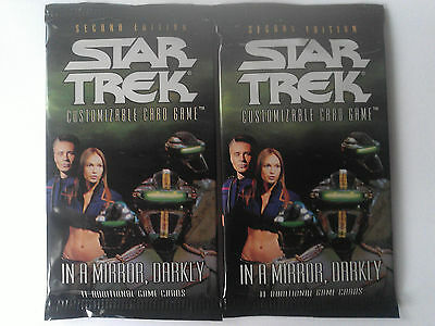 Star Trek ccg Two In a mirror darkly IAMD sealed booster packs