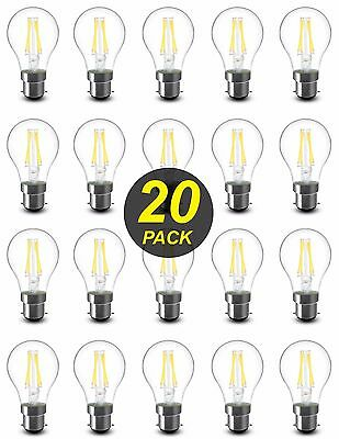 10 x Dimmable LED 4.5W Vintage Edison Clear Filament Light Globes Bulbs ST64 B22
