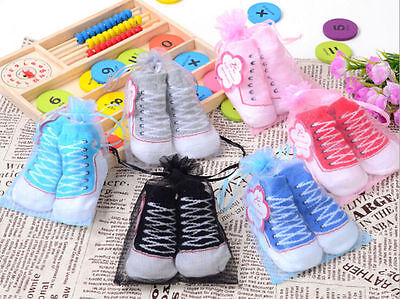 1 Pair 0-6 Months New Baby Boy Cotton Anti-slip Soft Shoe Socks 6 Colorsv