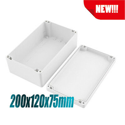 Waterproof Electronic Junction Project Box Enclosure Case 200x120x75mm TO