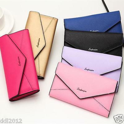 Lady Women Leather Clutch Long Purse Wallet Card Holder Handbag Phone Bag HOT