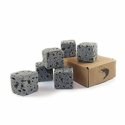 6 Eco Bricks Water Purifying Aquarium Decor Stones 100% Natural Lava Rock Pet Ne • EUR 24,01