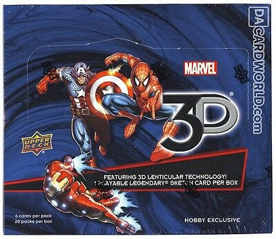 MARVEL 3D LENTICULAR Card SINGLES  Upper deck 2015