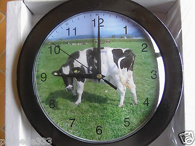 Horloge ronde pvc Diam 25cm collection VACHES Eleveur Fermier