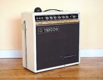 1960s Teisco Checkmate 15 Vintage 1x10 Tube Amplifier Near Mint & Serviced Japan