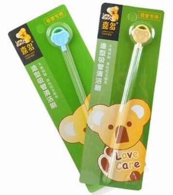 sipper straw brush cleaner Nylon stainless steel suits baby bottles