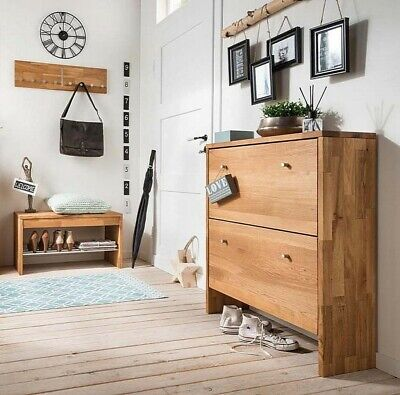 garderobenset fenja garderobe schrank bank schuhschrank. Black Bedroom Furniture Sets. Home Design Ideas