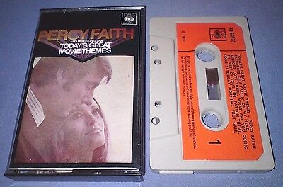 PERCY FAITH TODAY'S GREAT MOVIE THEMES PAPER LABELS cassette tape album T2316