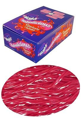 90 Pieces x Wonka Raspberry Twister 1 kg Bulk Party Favor Loot Bag Sweets Lolly