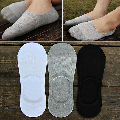 6 Pairs Men Loafer Boat Invisible No Show Nonslip Liner Low Cut Cotton Socks TO