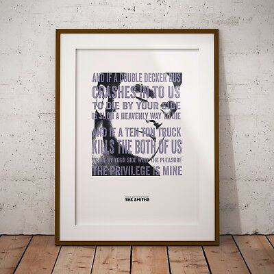 Morrissey There's a Light Lyrics Art Print/Poster Three Sizes The Smiths 2017©