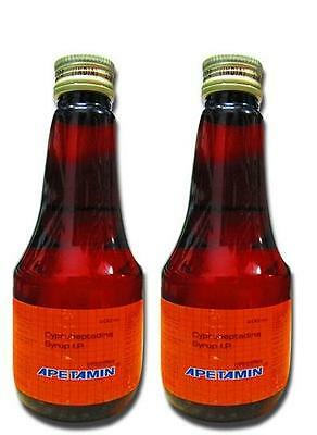 2 Apetamin Appetite Stimulant Syrup 6.76 Fl oz Supplement Fast Weight Gain Syrup