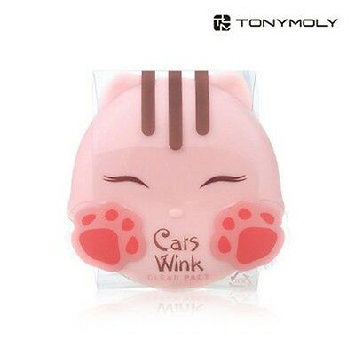 Genuine Tonymoly Cats Wink Clear Pact 11g - #2 Clear Beige