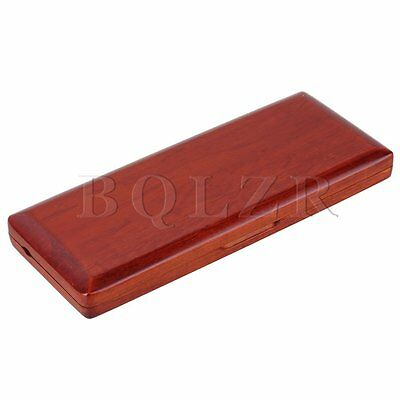 Wooden Bassoon Reed Case Waterproof for 10 Reed Hold Amber Color Strong Durable