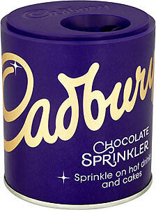 6 x Cadbury Sprinkler - To Sprinkle On Top Of Coffee And Hot Chocolate