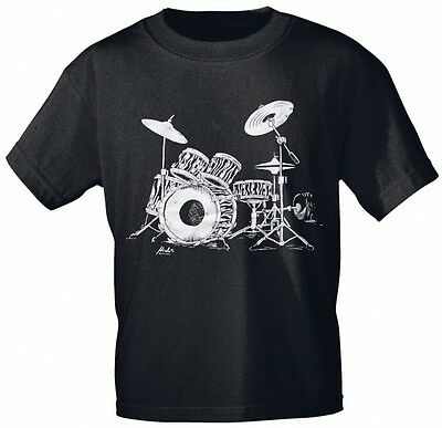 Designer Marken Musik T-Shirt DRUMS  ROCK YOU MUSIC SHIRTS S - XXL