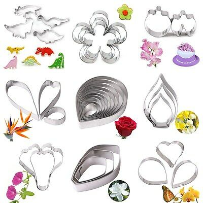 Stainless Steel Flower Leaf Biscuit Pastry Cookie Cutter Cake Decor Mold Tools