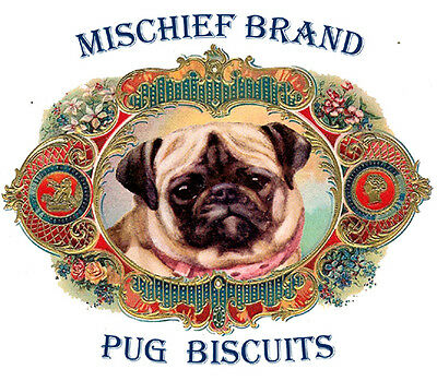 Pug   Mischief Brand   Biscuit Tin - Treats and Collectible Tin