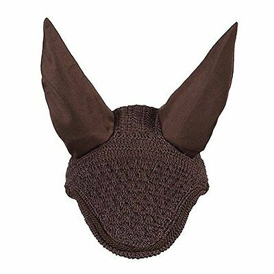 LeMieux Vogue Fly Hoods - Brown/Brown Braid - Large - Horse Hoods & Neck Covers