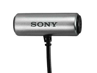 SONY ECM-CS3 Condenser Compact Business Microphone Tie clip JAPAN IMPORT F/S