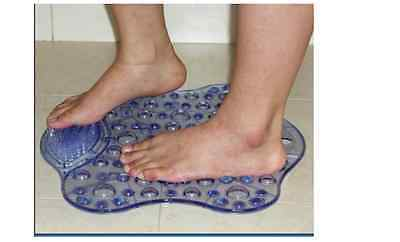 NRS Healthcare Foot Cleaning Bath Mat with Integral Scrubbing Brush