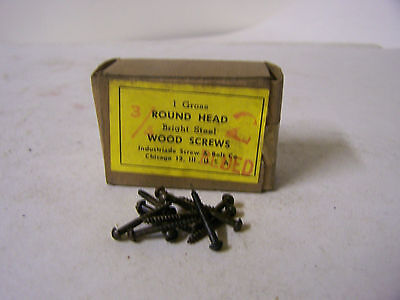 """#2 x 3/4"""" Round Head Blued Wood Screws Slotted Made in USA Qty 144"""