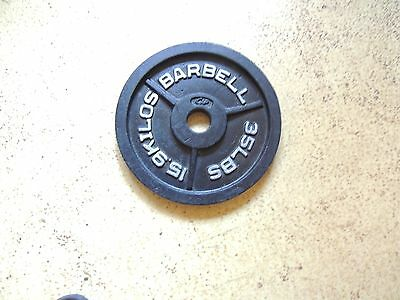 Cap 35 Lb. Olympic Weight Barbell Plate