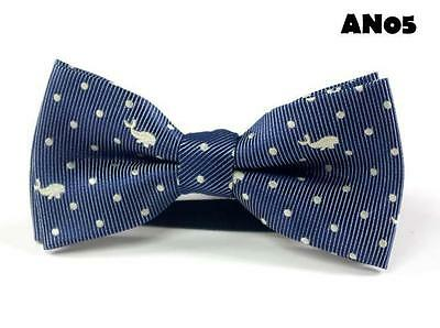 "Baby/Toddler/Young Boy's Blue Theme BowTies w/wo Navy Blue 25"" or 36"" Suspenders"