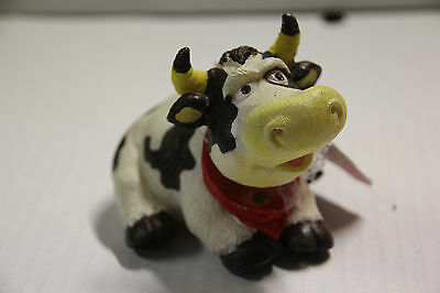 Aquarium bubbler ornament - Brown & White Cow