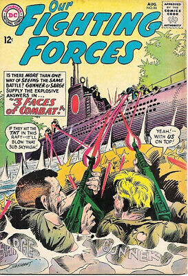 Our Fighting Forces Comic Book #86 Gunner and Sarge, DC Comics 1964 VERY GOOD+