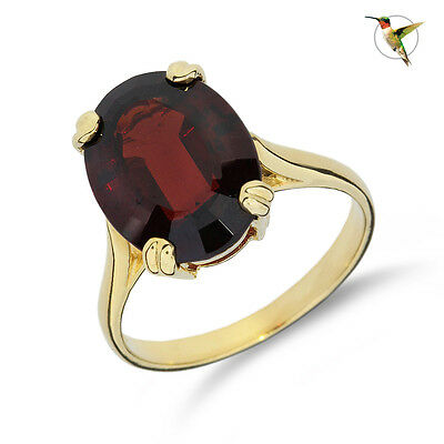NEW 6.78ct Fancy Oval Garnet Solitaire Ring Set in 14k Solid Yellow Gold #2711