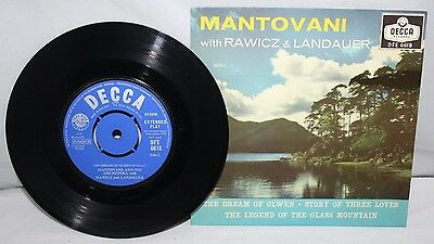 "7"" EP - Mantovani - The Dream of Olwen - Decca DFE 6618 - 1958"