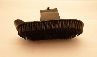 Lincoln Plastic Curry Comb - Black - Large - Horse Equestrian Curry Combs