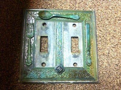 Charming Light Switch Cover Decor Vintage Kitchen Utencils Old Look Wall Plate