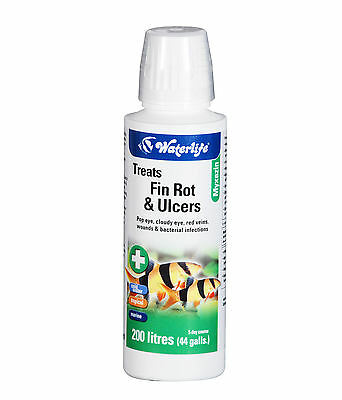 Waterlife Myxazin for Fin Rot, Ulcers, in Fresh and Salt Water 100 ml Bottle • EUR 6,01