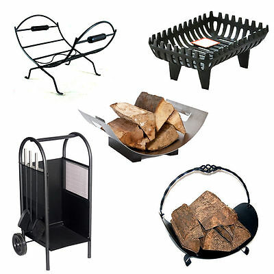 Log Holder Cradle Fireplace Wood Coal Basket Log Store Rack Firewood Storage