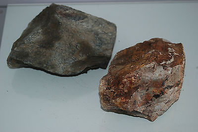 Natural Aquarium Coloured Slate Rock 2x Medium Size Pieces for All Aquariums B3B
