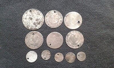 LOT of 11 Mix_ OTTOMAN .ISLAMIC SILVER Akche-Para COINS+ 18th century