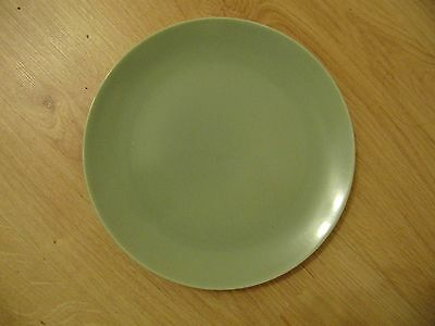 """BRANKSOME PLATE dia 9"""" SAGE GREEN used, tiny bubble on surface  (0.6/155)"""