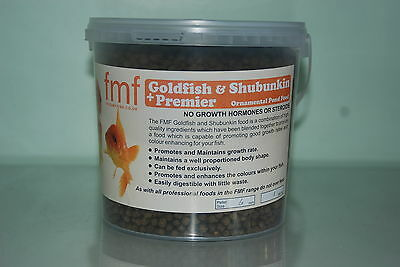 FMF Goldfish & Ornamental Premier + Pond Fish Food 1 Kilo Bucket 6mm Pellets