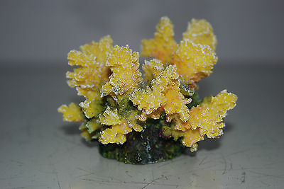 Detailed Aquarium Coral Reef Decoration Yellow Sponge Type 10 x 8 x 8 cms