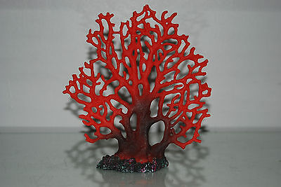 Detailed Aquarium Coral Reef Decoration Red Fern Type 19 x 5 x 20 cms