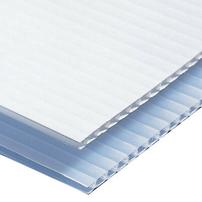 "Corrugated Plastic Sign Blank  Sheets 18""x12"" Short Fluted 4mm Coroplast - White"