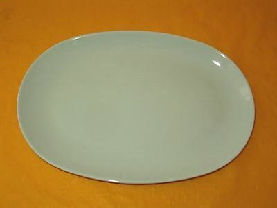 """RARE BRANKSOME MEAT/FISH/SERVING GREEN OVAL PLATE, long 11.75"""", in VGC (0.6/454)"""