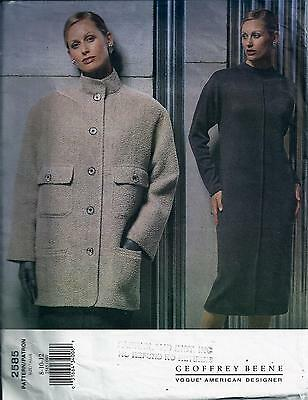 Vogue 2585 Sewing Pattern Misses Geoffrey Beene Jacket & Dress Sizes 8-10-12