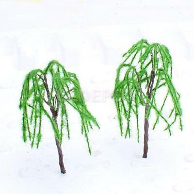 10pcs Model Weeping Willow Tree Train Scenery Landscape O - TT Scale 1:48 -1:100