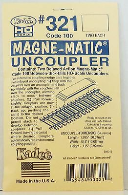 HO Scale Kadee #321 Permanent Magnet Delayed Uncoupler for Code 100 (2) pcs